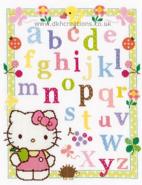 Hello Kitty  Learn ABC Cross Stitch Kit